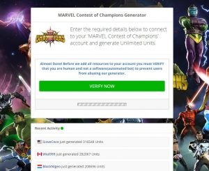 marvel contest of champions-landing-page